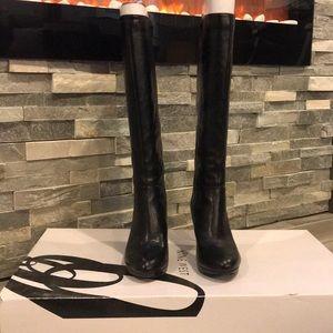 Black Nine West knee boot